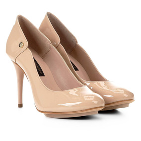 c68224cdb9 Salto Meia Pata Fechado Nude Feminino Scarpins - Sapatos no Mercado ...