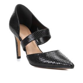 4d119f1eab Scarpin Couro Shoestock Salto Alto Cobra Lopsided