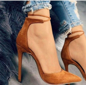 ab3b04eac7 Scarpin Fashion 2019 Marron Canela