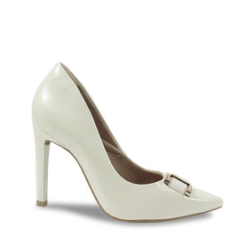 b900b7cf41 Sapato Scarpins Ramarim - Scarpins para Feminino Branco no Mercado Livre  Brasil