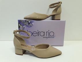 d7a6d4e115 Scarpin Verniz Nude Bico Redondo Beira Rio - Sapatos no Mercado ...