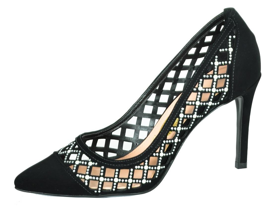 f31a901921 scarpin feminino sapato sandália confort macio preto. Carregando zoom.