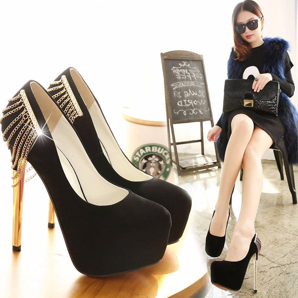 3c27406fb1 scarpin importado sapato belo festa sandália salto alto top. Carregando zoom .