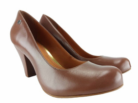 b8a25608ae Scarpin Bico Redondo Salto Grosso - Sapatos no Mercado Livre Brasil
