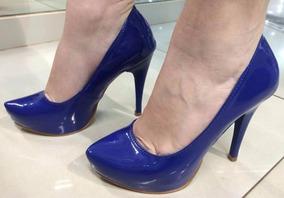 6b54c123ee Bic Sapato Meia Pata Azul Royal - Sapatos no Mercado Livre Brasil