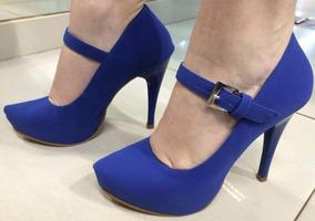 ceda99650e Scarpin Azul Royal Feminino Scarpins - Sapatos no Mercado Livre Brasil