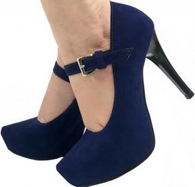 f71e708640 Scarpin Dakota Azul Meia Pata - Sapatos no Mercado Livre Brasil