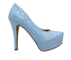 50908b62df Scarpin Azul Bebê - Scarpins para Feminino no Mercado Livre Brasil