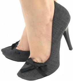 2f37300ba8 Sapato Escarpam Número 38 Em Ótimo Estado Com Laço Cinza - Sapatos ...