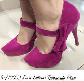 b3e92e7b33 Scarpin Rosa Pink Camurça - Calçados