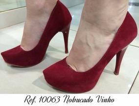69c7bc238 Sapato Meia Pata Salto Alto Vinho - Sapatos no Mercado Livre Brasil