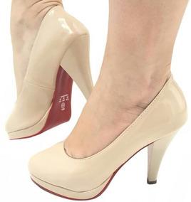 e1f76cce73 Scarpin Bico Redondo Nude - Sapatos no Mercado Livre Brasil