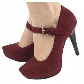 0db0ede70 Salto Vermelho Vinho Salto Fino - Sapatos no Mercado Livre Brasil