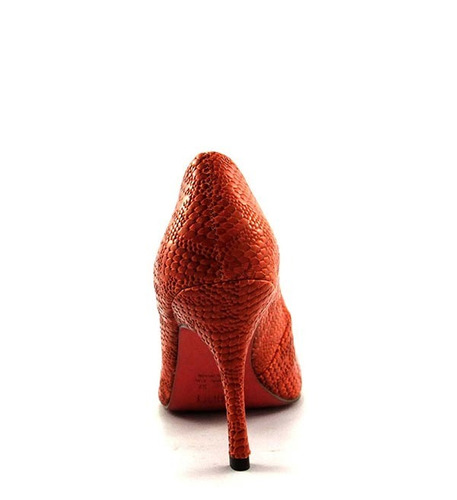 scarpin myshoes orange laranja salto agulha social festa