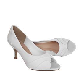 7e0fe39cad7b Sapato Branco De Noiva Salto Baixo - Sapatos com o Melhores Preços no  Mercado Livre Brasil
