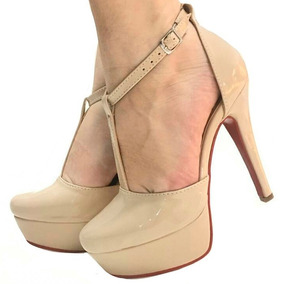 98ae5113ea Scarpin Nude Bege Sapato Boneca - Sapatos no Mercado Livre Brasil