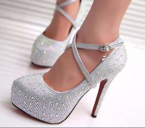 31ef28689 Sapatos De 15 Anos Prata no Mercado Livre Brasil