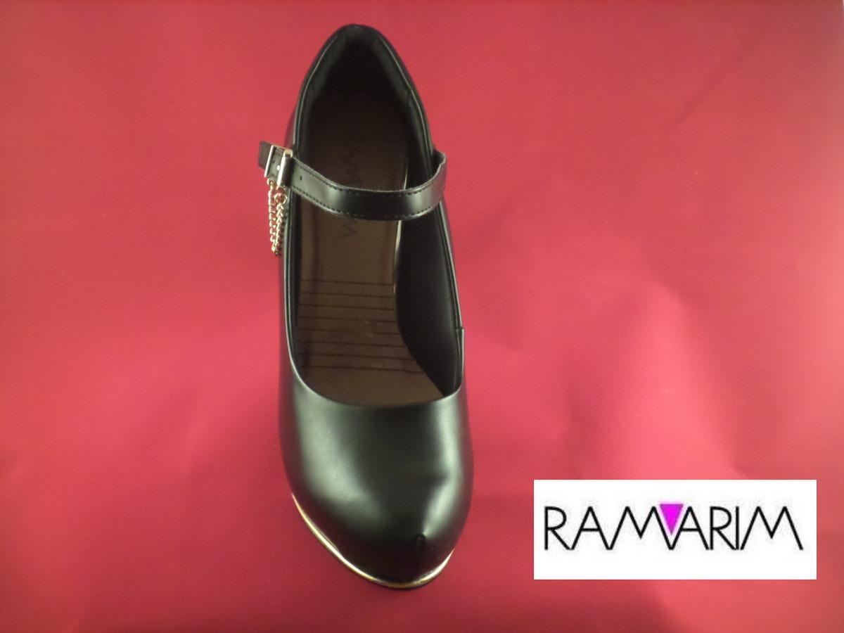 cafe262a0 Scarpin Ramarim Ref.1540103 - Preto - R$ 79,90 em Mercado Livre