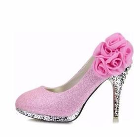 3e649b7545 Scarpin Rosa Bebe Para Debutantes - Sapatos no Mercado Livre Brasil