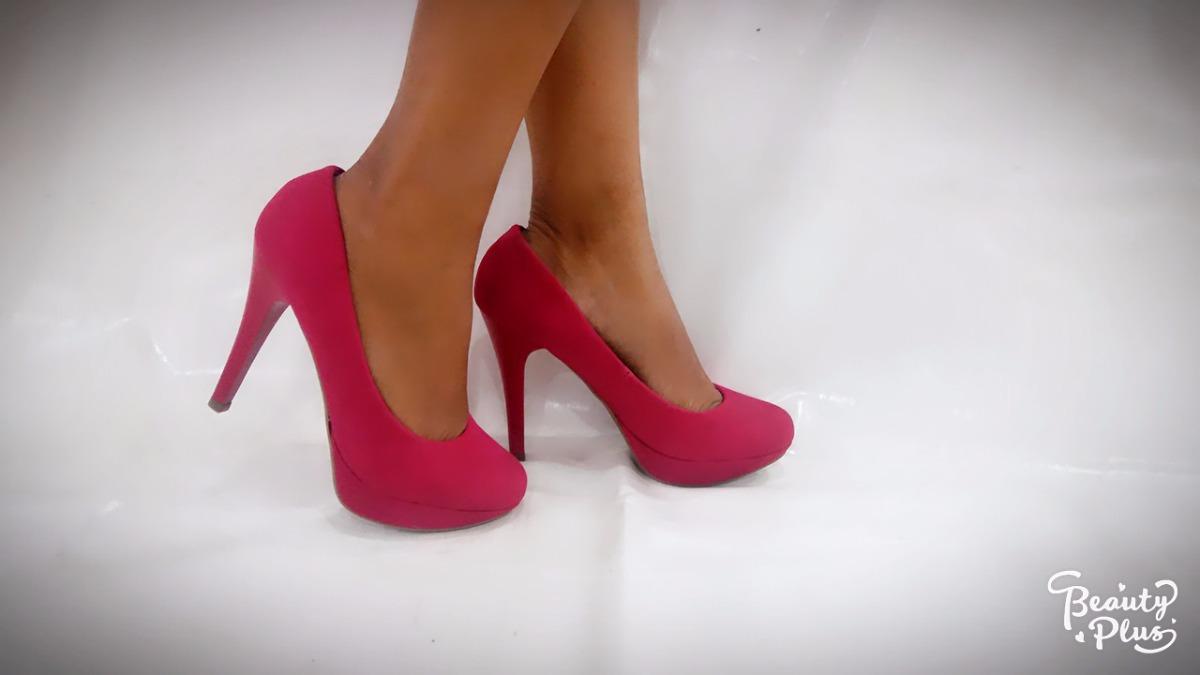 275bd4da88 scarpin rosa pink fosco salto alto fino meia pata. Carregando zoom.