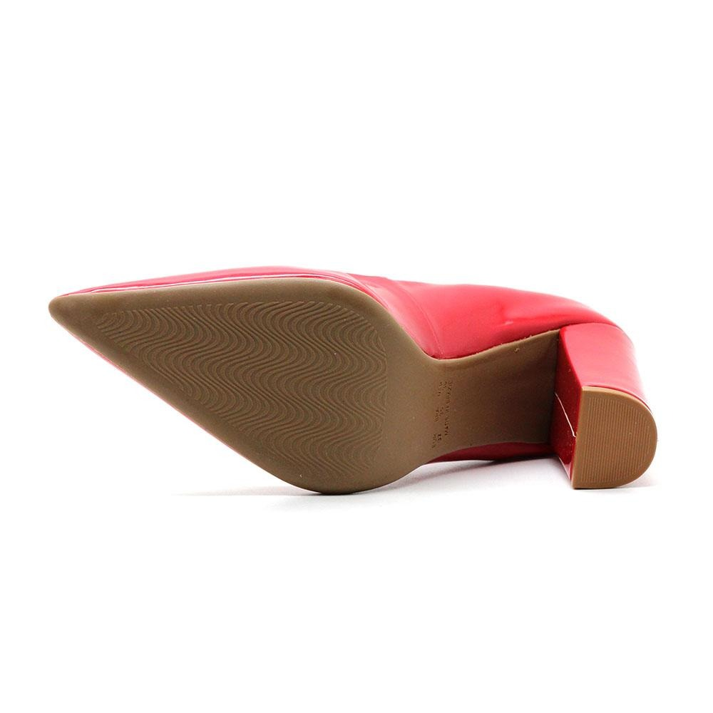fd70719a04 scarpin royalz verniz salto grosso alto penélope vermelho. Carregando zoom.