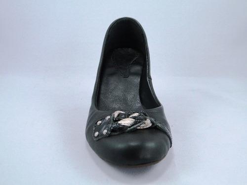 scarpin salto 6 cm couro preto verniz boni 1585-127