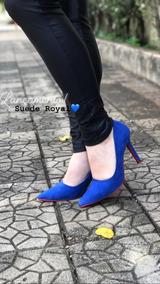 22b00f5dbf Scarpin Azul Royal - Scarpins para Feminino no Mercado Livre Brasil