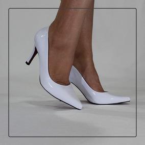 8e8d360745 Scarpins Solado Vermelho De Onca - Sapatos Branco no Mercado Livre Brasil