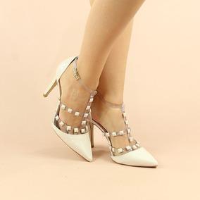 9ae5a0d41 Sapato Scarpin Tachas Rockstud Cristal Nude Rosé - Sapatos com o Melhores  Preços no Mercado Livre Brasil