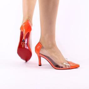 0dd388e1d3 Cvd Lamber Bica Sapatos Sociais Feminino - Scarpins para Feminino Laranja  no Mercado Livre Brasil