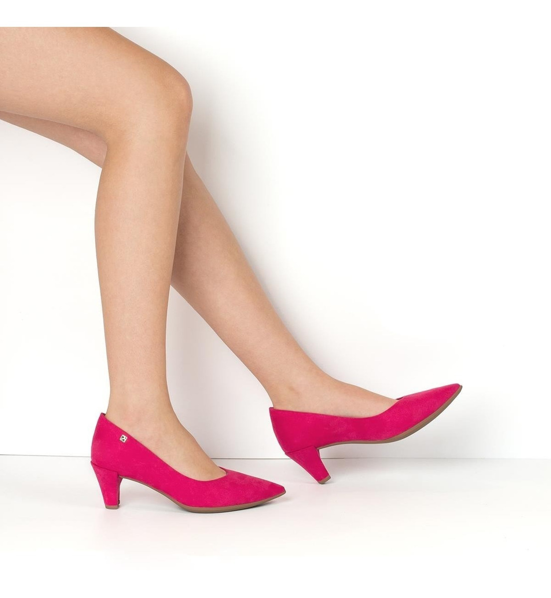 afd5a2fd41 Scarpin Salto Alto Piccadilly Sapato Pink Lançamento - R$ 163,90 em ...
