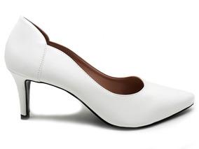 01ae3a37a Sapato De Noiva Salto Baixo Branco Feminino Peep Toe - Sapatos no ...