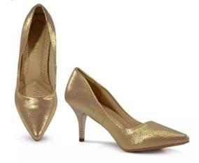 acb4252a3 Saltos Femininos Baratos - Sapatos para Feminino Dourado com o ...