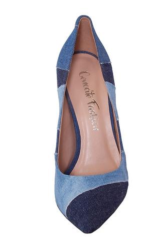 scarpin salto medio sapato bico fino salto medio promoção