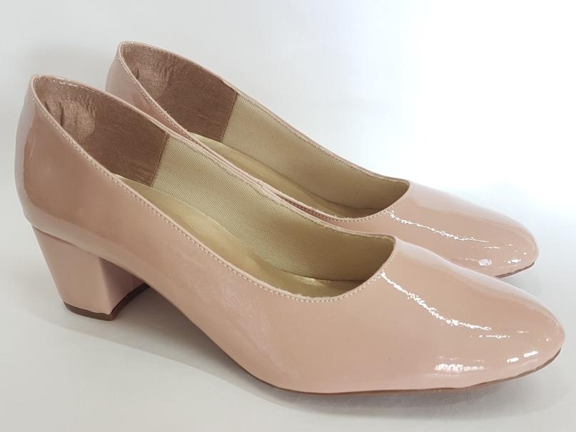 a0cb5cdd55 Carregando zoom... sapato feminino scarpin · scarpin sapato feminino verniz  bico redondo salto baixo 2018