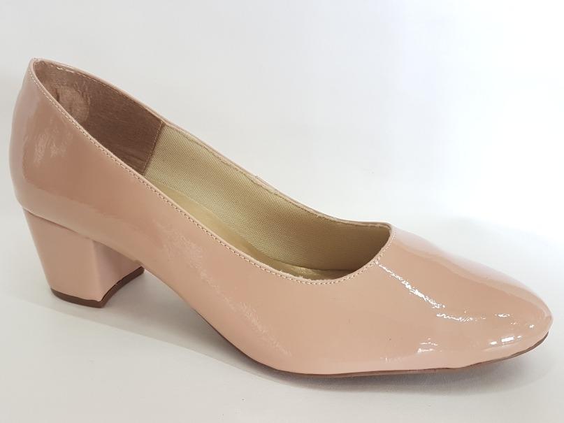 1ff1cad47c scarpin sapato feminino verniz bico redondo salto baixo 2018. Carregando  zoom.
