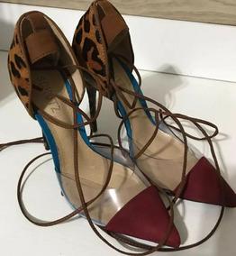 d2701a6c01 Scarpin Vinil Party Schutz Prata - Sapatos no Mercado Livre Brasil