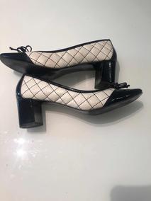 c2c375cfc4 Sapato Bicolor Scarpins - Sapatos no Mercado Livre Brasil
