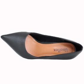 d85d637454 Sapato Scarpin Preto Usaflex Confortável 0201 Melhor Preço!