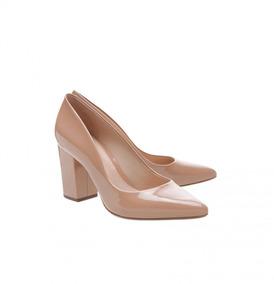 0c3020c8f Sapato Nude De Verniz Schutz Essentials Feminino Scarpins - Sapatos ...