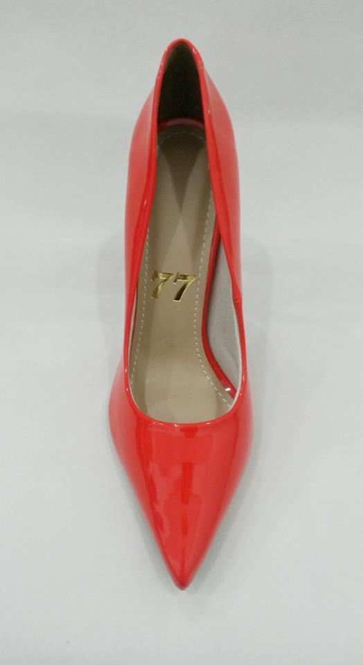 1770507d2e scarpin verniz laranja bico fino salto alto fino agulha. Carregando zoom.
