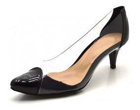 f735483b3 Scarpin Transparencia Salto Baixo - Sapatos com o Melhores Preços no ...
