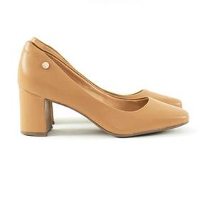 39a768c5cb Scarpin Bico Redondo Salto Baixo - Sapatos no Mercado Livre Brasil