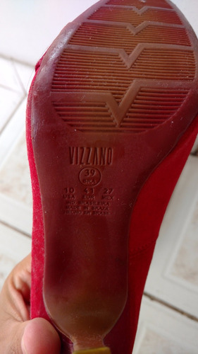 scarpin vizzano vermelho
