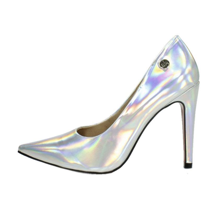 18dba8fca6 scarpin week shoes salto alto prata furtacor frete grátis. Carregando zoom.