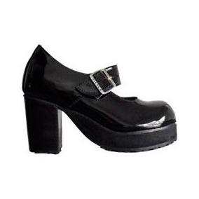 1b84316b5 Sapato Boneca Salto Alto Envernizado Colorido Couro Ref172