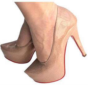 fc8e52d721 Scarpin Meia Pata Rose Ou - Sapatos no Mercado Livre Brasil