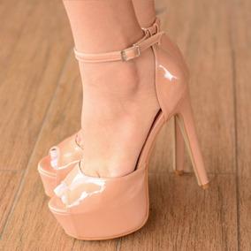 0ea9e32ae5 Salto Alto Preto 15 Cm - Sapatos para Feminino Marrom claro no ...