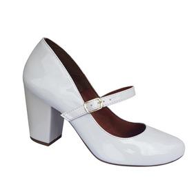 9ab4d8925 Sapato Branco Noiva Festa Modelo Boneca Salto Alto Grosso. R  120
