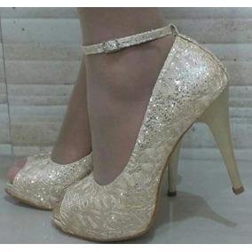 5167c00fa Sapato Madrinha Casamento Dourado - Sapatos para Feminino no Mercado ...
